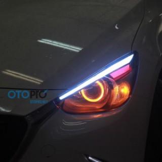 Mazda 2 All New độ Bi-xenon, LED mí khối, vòng Angel eyes