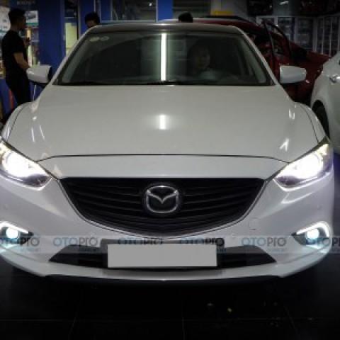 Mazda 6 độ bi pha Hella 5 và bi gầm GT