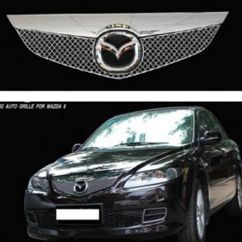 Mặt ca lăng độ chất liệu thép chống gỉ cho Mazda 6 2005-2007