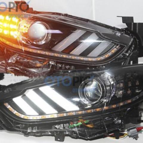 Đèn pha độ LED nguyên bộ xe Mazda 6 2015 All New mẫu Mustang