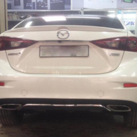 Lip sau chia đôi pô cho Mazda3 All New 2015-2016 kiểu Mercedes W212