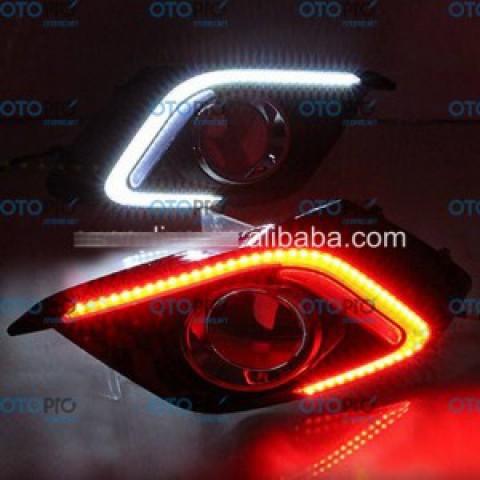 Đèn gầm LED daylight DRL cho Mazda 3 All New 2015-2016 mẫu chữ C trắng vàng