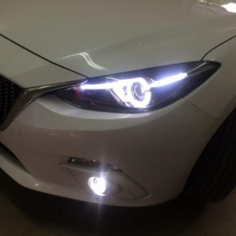 Độ đèn nguyên bộ bản 2.0, bi gầm mazda 3 2016