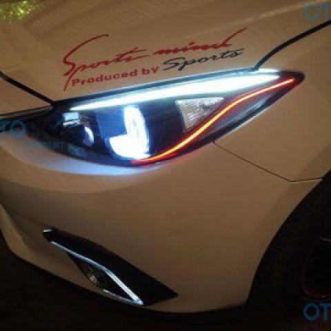Mazda 3 All New 2015-2016 độ LED mí, vòng Angel eyes