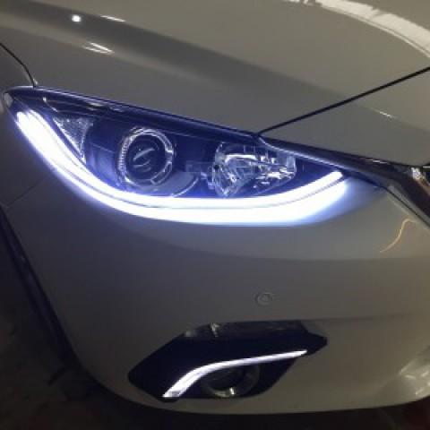 Mazda 3 lắp Mí Gầm Cùng Led Mí Silicon
