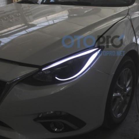 Độ đèn pha LED mí khối xe Mazda 3 All New 2015