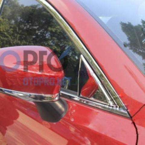 Ốp viền cổ gương chiếu hậu mạ crôm xe Mazda 3 2015