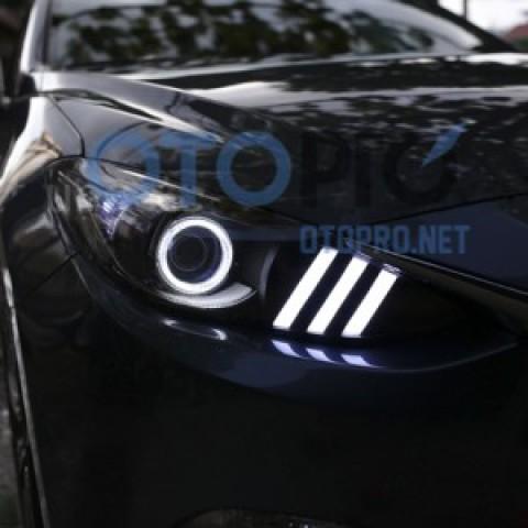 Độ đèn pha LED xe Mazda 3 2015 All New mẫu Mustang