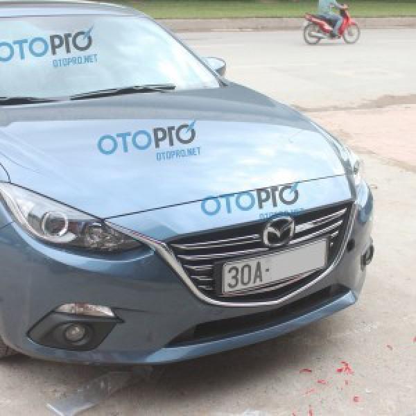Ốp mặt ca lăng mạ crôm cho xe Mazda 3 2015 All New
