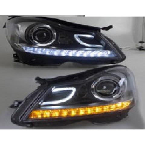 Độ angel eye, LED drl mẫu Benz w204 cho Benz C-class