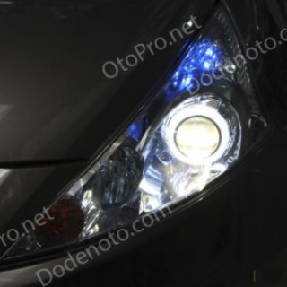 Độ đèn bi xenon, angel eyes LED cho xe Mitsubishi Grandis