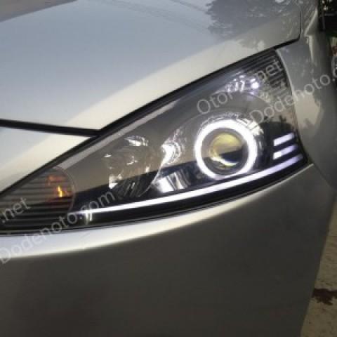 Độ bi xenon, angel eyes, LED mí khối xe Mitsubishi Grandis