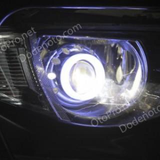 Độ đèn bi xenon, vòng angel eyes khối xe Mitsubishi Triton