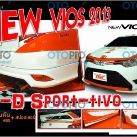 Bodylip cho Vios 2014-2016 mẫu TRD nhập khẩu Thái Lan