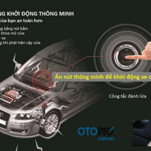 Độ nút bấm  Start/Stop (bộ đề nổ và khởi động thông minh) Engine Smartkey cho xe Nissan Navara