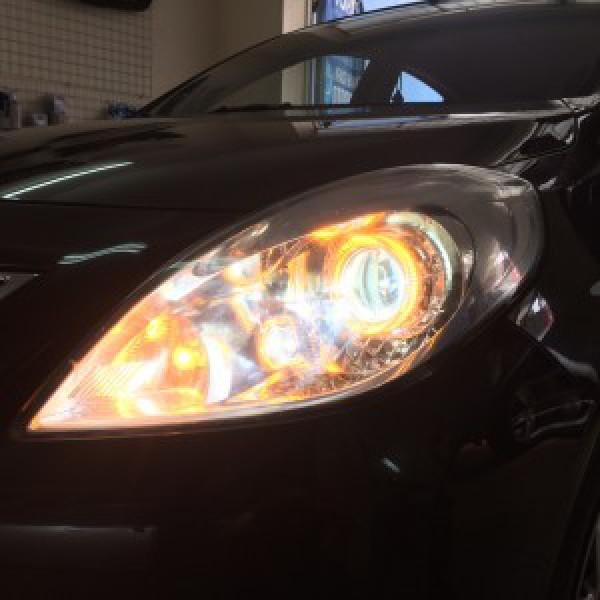Nissan Sunny 2016 độ bi Q5 NHK