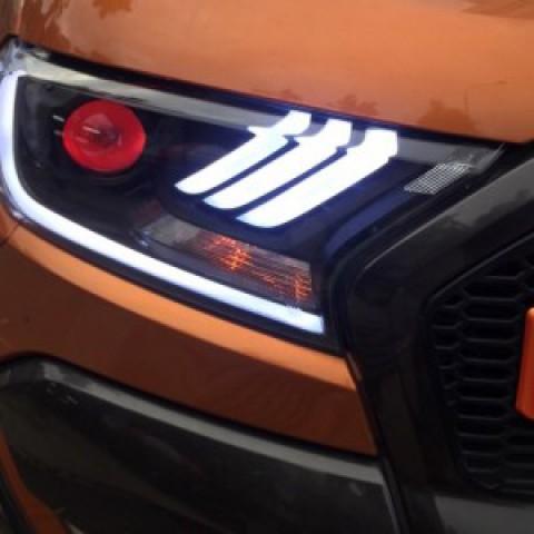Đèn pha độ LED nguyên bộ cho xe Ford  Ranger 2017 mẫu Mustang