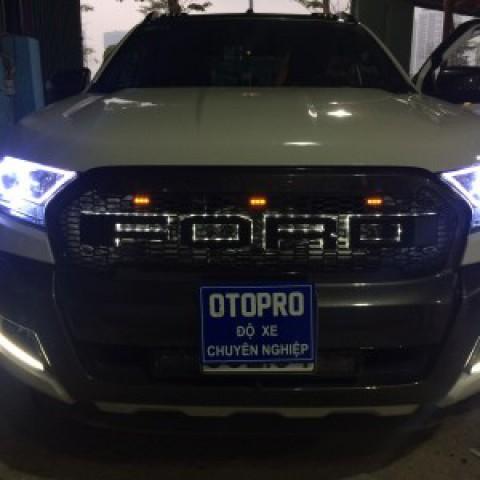 Ford Ranger Wildtrak thay mặt ca lăng có led
