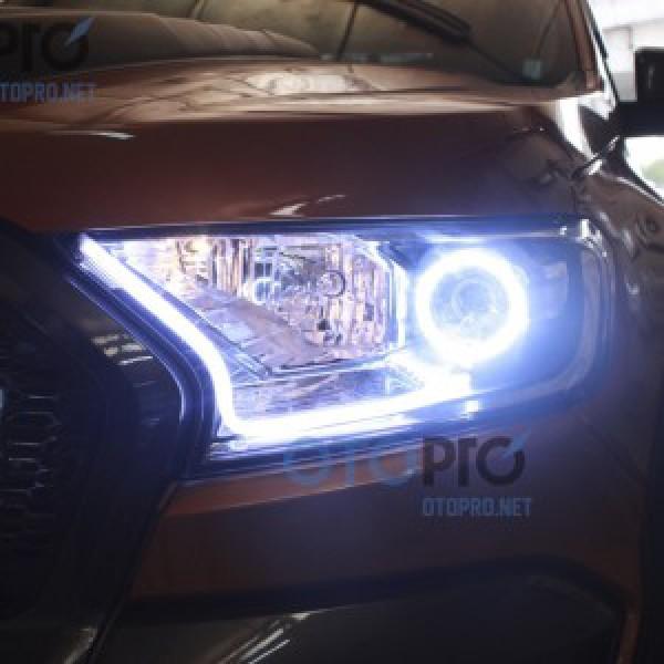 Độ vòng angel eyes 2 màu, LED mí khối trắng vàng Ranger 2016