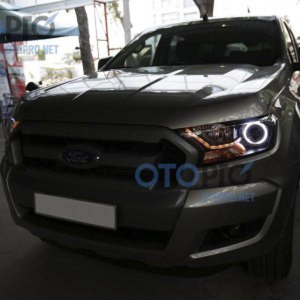 Ford Ranger XLT 2016 độ bi xenon, angel eyes, LED mí thuỷ tinh