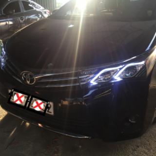 Lắp đèn pha nguyên bộ mẫu mec, bi gầm 2 chế độ xe Toyota Altis 2016