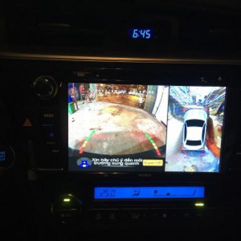 Toyota altis 2016 lắp dvd s90 và cam 360 fuji
