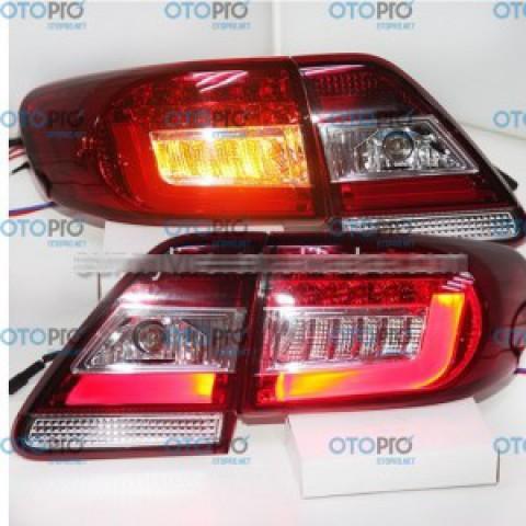 Đèn hậu độ LED nguyên bộ xe Toyota Corolla Altis 2011-2013 đỏ