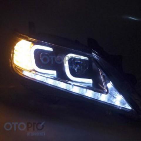 Đèn pha độ LED nguyên bộ cho xe Camry 2012 mẫu chữ C