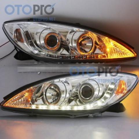 Đèn pha độ LED nguyên bộ xe Camry 2001-2006 choá crôm V30