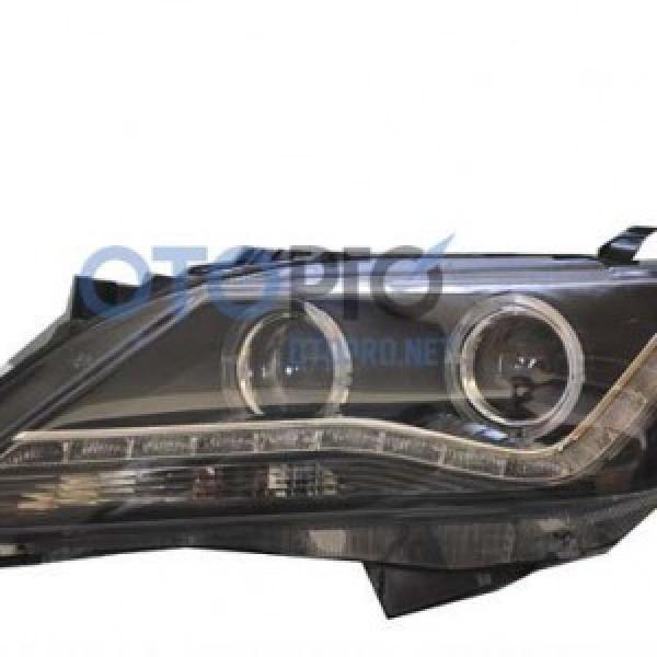 Đèn pha độ nguyên bộ xe Toyota Camry 2012 mẫu 2bi LED hạt