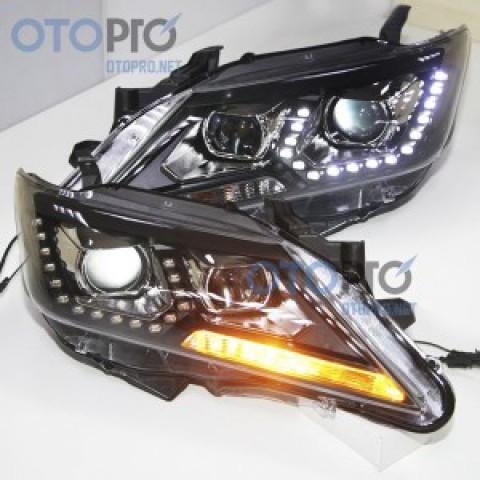 Đèn pha độ LED nguyên bộ xe Camry 2012-2014 mẫu PW