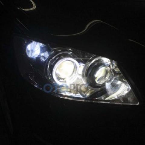 Độ đèn bi xenon, angel eyes LED kiểu BMW cho Camry 3.5