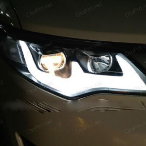 Đèn pha độ nguyên bộ cho Camry LE xuất Mỹ 2013 mẫu mí khối