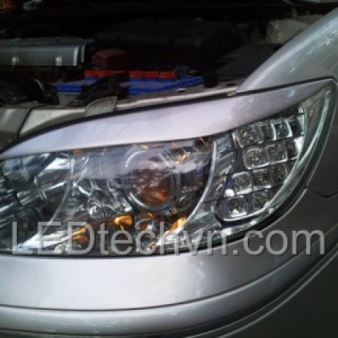 Độ đèn bi xenon, Projector, Module xi nhan LED cho xe Toyota Camry