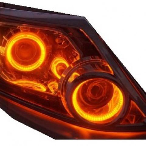 Độ bi xenon Infinity FX35, vòng Angel eyes BMW 2 màu cho Fortuner