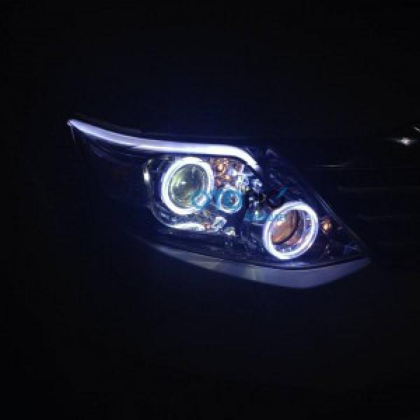 Toyota Fortuner 2013 – 15 độ bi-xenon, vòng Angel eyes, LED mí khối trắng vàng