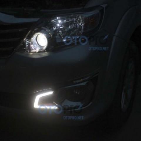 Độ đèn gầm LED Daylight cho xe Toyota Fortuner