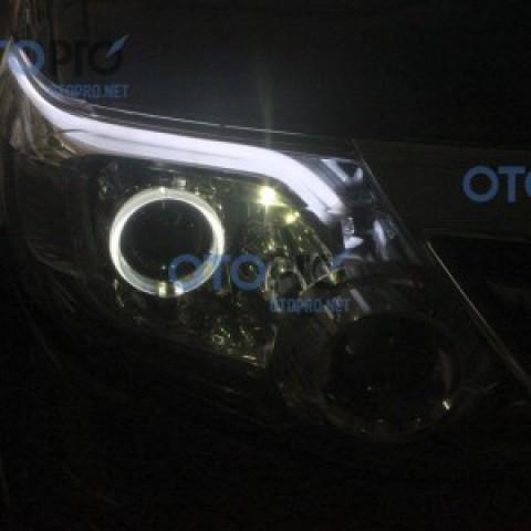Độ đèn LED mí, daylight, angel eyes cho xe Toyota Fortuner