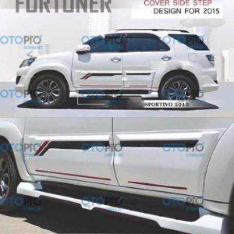 Ốp thân xe và ốp bậc cho Fortuner 2012-2015 mẫu Sportivo nhập khẩu Thái Lan