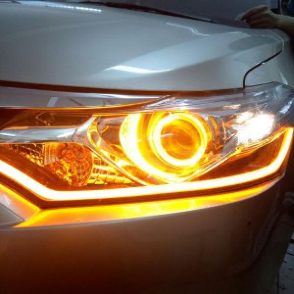 Toyota Vios Độ Led Mí Và Vòng Angel