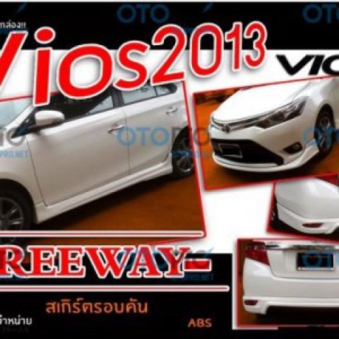 Bodylip cho Vios 2014-2016 mẫu Freeway nhập khẩu Thái Lan