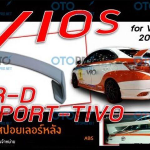 Đuôi gió cho Vios 2014-2016 mẫu Sportivo nhập khẩu Thái Lan