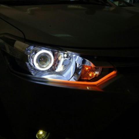 Toyota Vios Độ Bi Hella GTR, Vòng Angel , led Mí  Và Bi Gầm