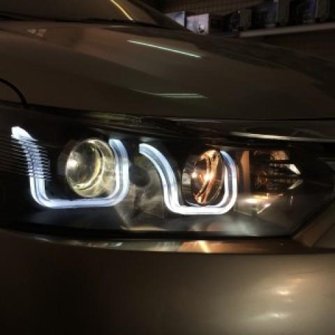 Toyota Vios Độ  Đèn Pha Mẫu BMW