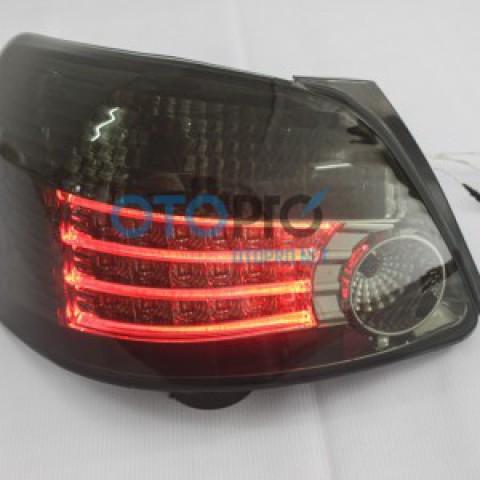 Đèn hậu độ LED nguyên bộ cho xe Vios 2008 mẫu đen khói