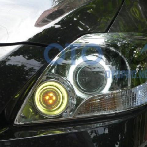 Độ đèn pha bi xenon, angel eyes LED cho xe Vios 2008