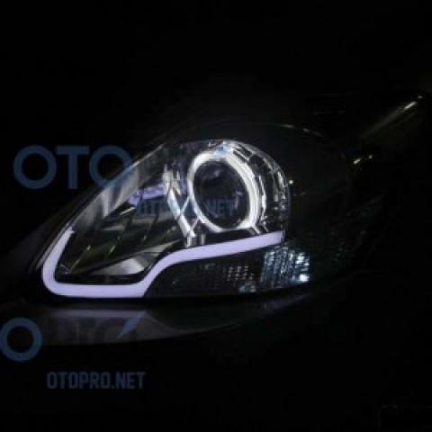 Độ đèn bi xenon, angel eyes, LED mí khối cho Toyota Vios