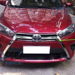 Ốp viền mặt ca lăng mạ crôm cho xe Yaris 2015