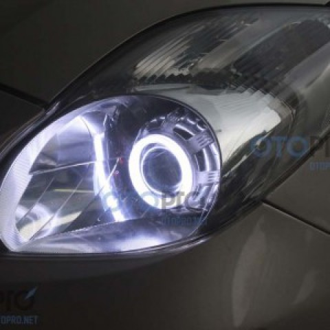 Độ đèn bi xenon, projector, angel eyes LED Toyota Yaris