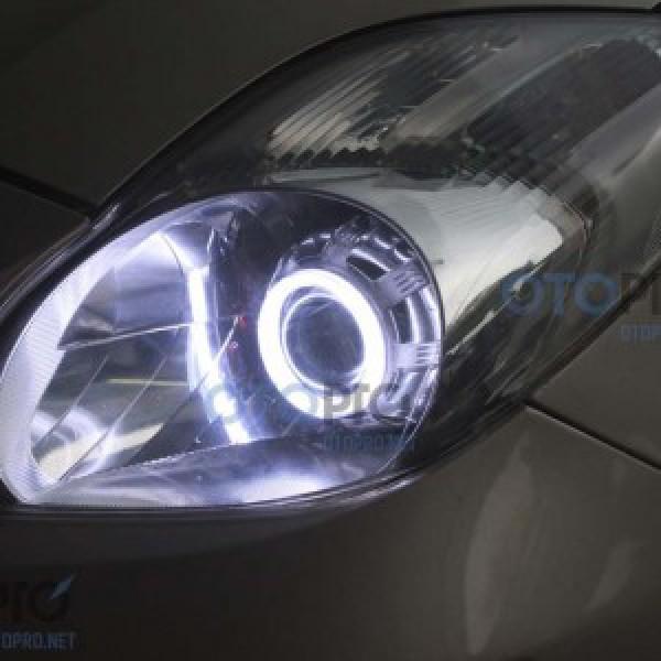 Độ đèn bi xenon, projector, angel eyes LED Toyota Yaris